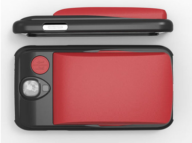 Slim Wallet 3d printed Slim Wallet shown in Red on the GS4