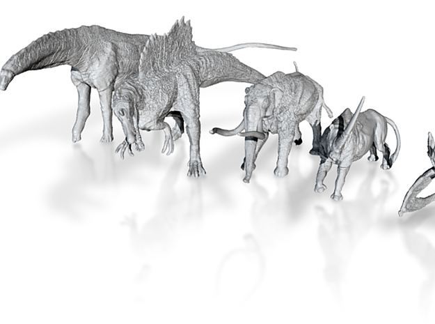 Mini Prehistoric Collection 1 3d printed 3D dinosaur models by ©2012-2014 RareBreed