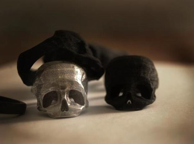 Skull Ring US 7 3d printed