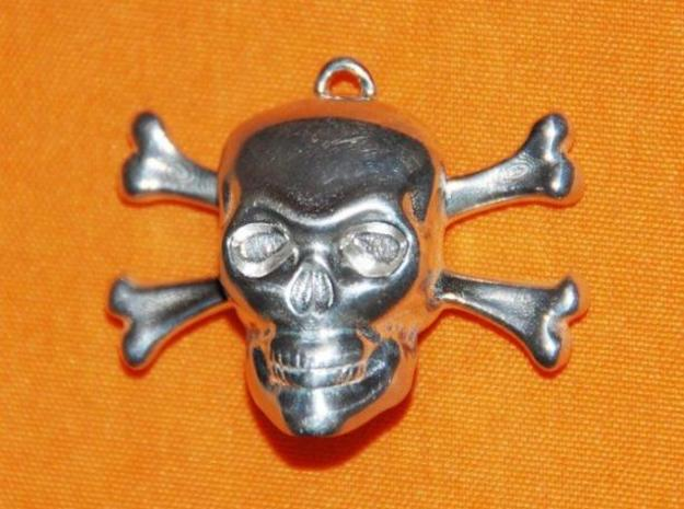 skull and bones pendant 3d printed photo