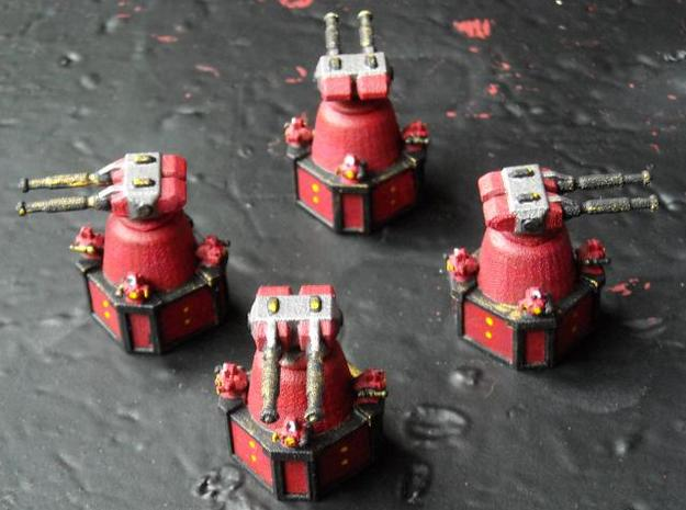 MG144-SV005A Base Turrets (4) 3d printed Painted model