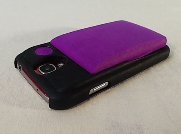 Slim Wallet 3d printed Slim Wallet shown in Purple on the GS4