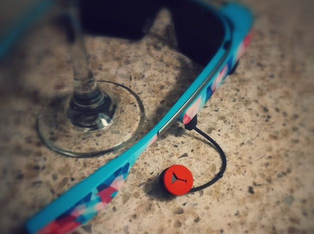 Martini Glass Ear Bud Cover for GLASS 3d printed