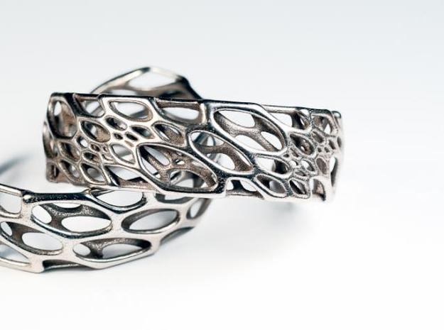 Bone Cuff sz S/M 3d printed in stainless steel