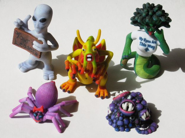 2 Inch Monsters: Batch 03 3d printed