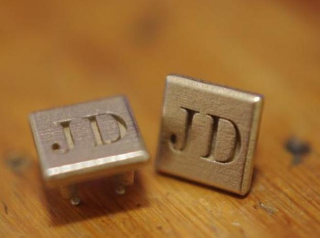 "Shoe Links 3d printed ""JD"" Monogram"