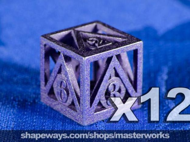 Deathly Hallows 12d6 Set 3d printed Stainless Steel