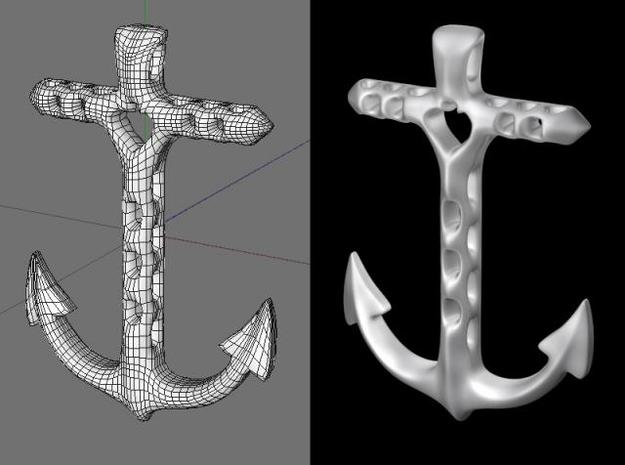 anchor 3d printed rendering