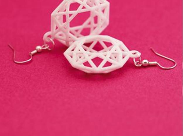 BRILLIANT - earrings 3d printed White