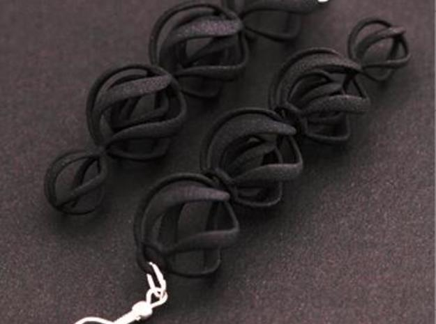 SWIRL - earrings 3d printed Black