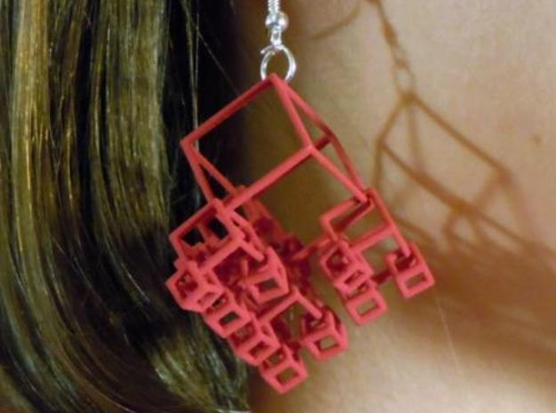 1+4+4×4 Cubes Earrings 3d printed (RSF)