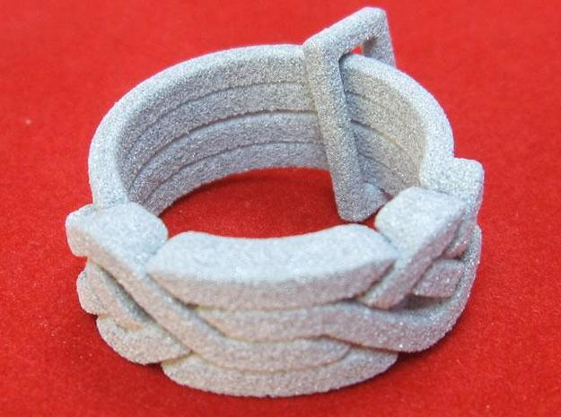 Holistic Ring 3d printed Alumide version