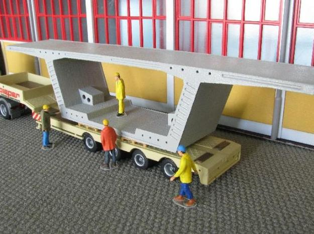 HO/1:87 Precast concrete bridge segment kit (wide 3d printed Diorama example