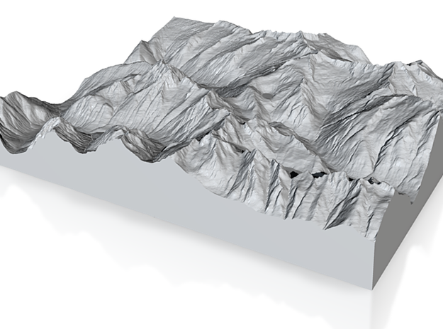 Model of Cascade Pass 3d printed