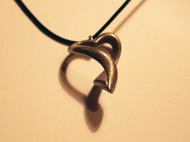 Twisted Heart Necklace 3d printed