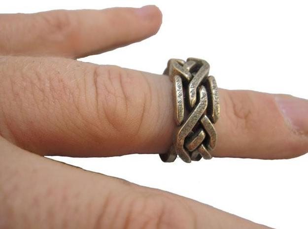 Holistic Ring metal 3d printed On finger