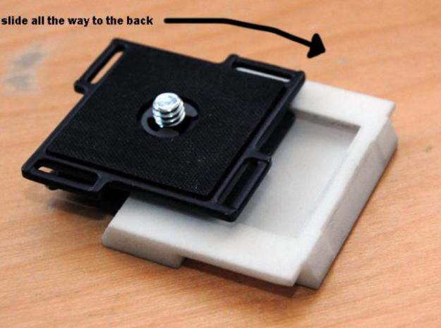 Arca Swiss to Manfrotto tripod plate adapter 3d printed