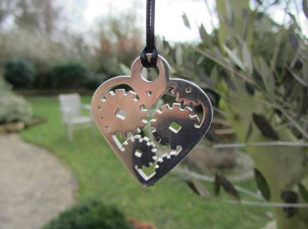 """Love Machine"" pendant 3d printed well balanced design hangs great"