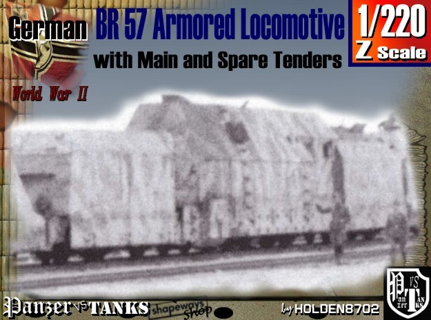 Z 1-220 BR 57 Armored Loco + 2 Tenders For BP-42 3d printed