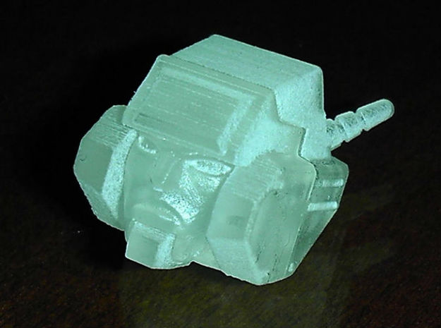Metal Head's Head for TF Junk Wreck gar Junkion ho 3d printed Metal Head in Frosted Ultra Detail...