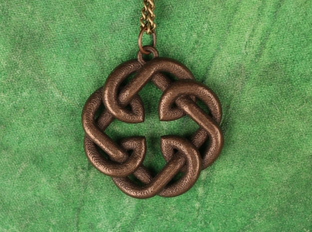 Fatherhood Knot Pendant 30mm 3d printed 30mm wide