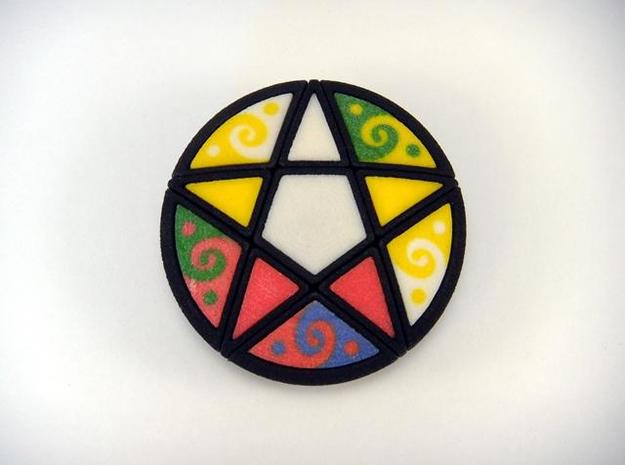 Pentacle Puzzle 3d printed Two Turns