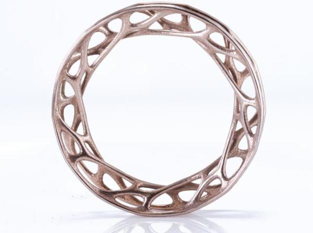 Convolution Bangle sz M 3d printed stainless steel