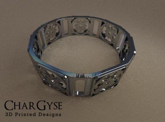 Bangle - Eight Petal Supported 3d printed Rendered in Blender