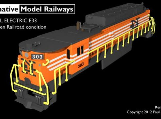 TTE3301 TT scale E33 loco - New Haven 3d printed