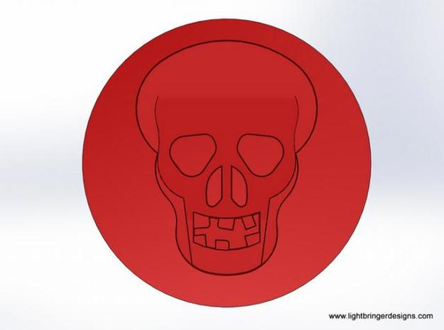 Skull Signet Ring 3d printed What the wax will look like