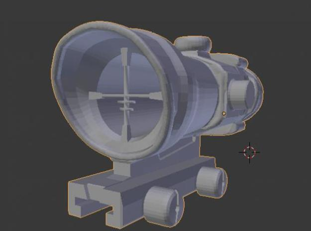Nerf ACOG scope/sight 3d printed Front view