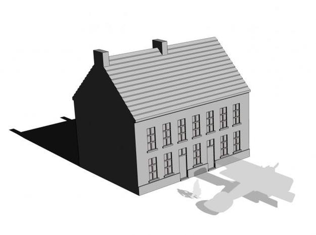 1/350 Town Building 2 3d printed