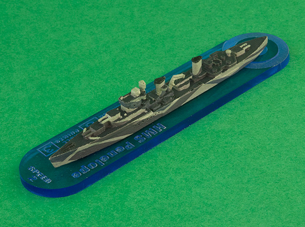 HMS Penelope 1/1800 3d printed Expertly painted by Weedsrock2 (Base by Reacher)