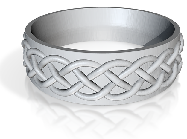 Celtic Wedding Band Braid Size 7 3d printed