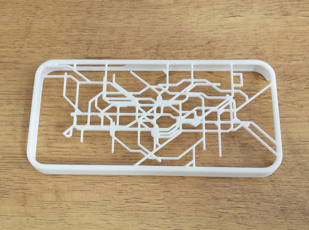 London subway/underground map Iphone 5s case 3d printed