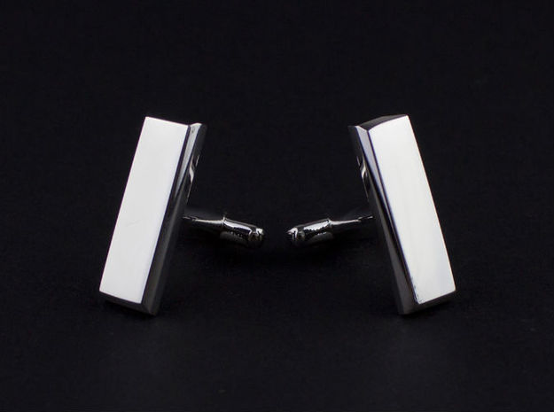 Lieutenant Bar Cufflinks 3d printed 3-D printed Lieutenant bar cuff-links (shown in platinum)
