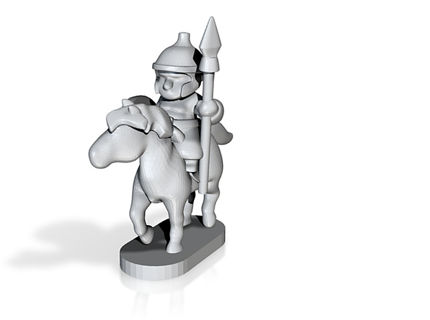 mounted warrior pawn 3d printed
