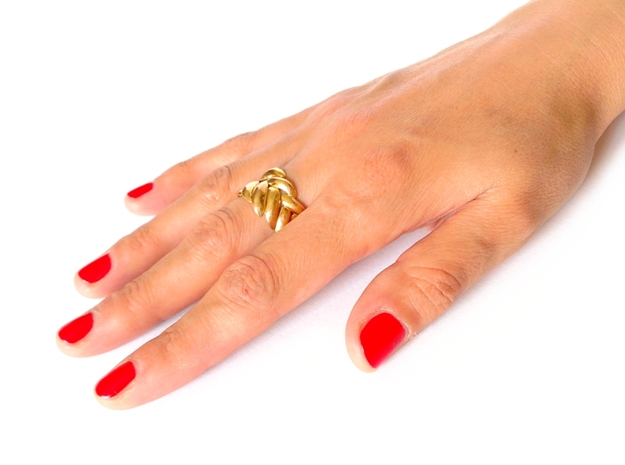 SPIGA Ring US Size 8 (18.2 mm) 3d printed Polished Bronze