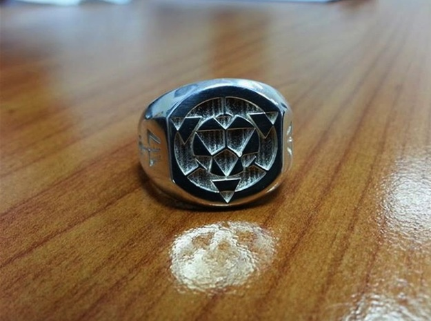 Virtual Adepts Ring 3d printed