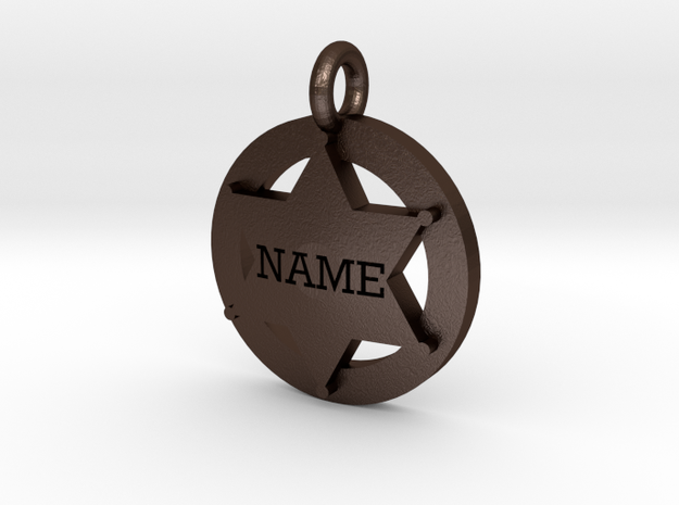 Small 6 point Sheriff's Star Pet Tag 3d printed