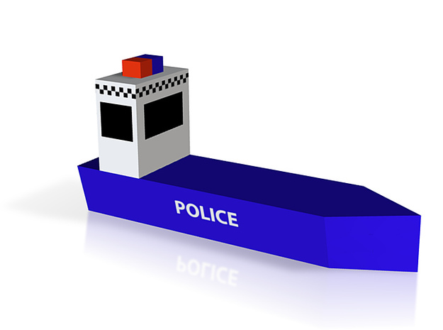 Police Boat 3d printed