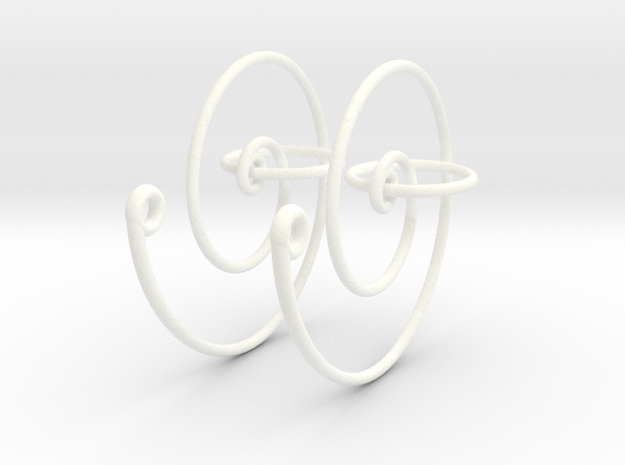 Spiral Earrings 3d printed