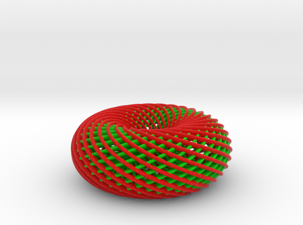 Holiday Spiral Torus 3d printed