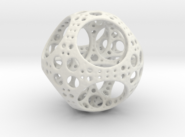 Apollonian Octahedron Mini 3d printed White Strong & Flexible