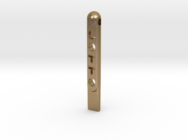 ^tool Lotto Scratch Card Scraper Ver2 3d printed Shapeways Render - Polished Gold Steel