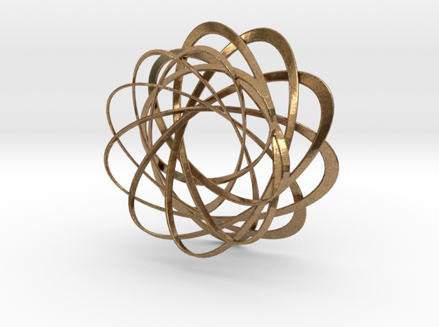 Mobius strips, intertwined 3d printed