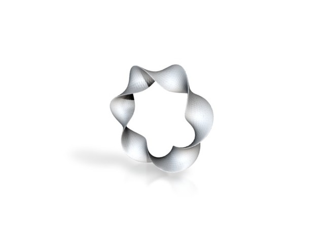 Twisted Star of David pendant 3d printed