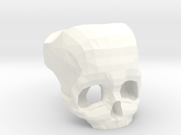3D Printed Skull Ring by Bits to Atoms 3d printed Description