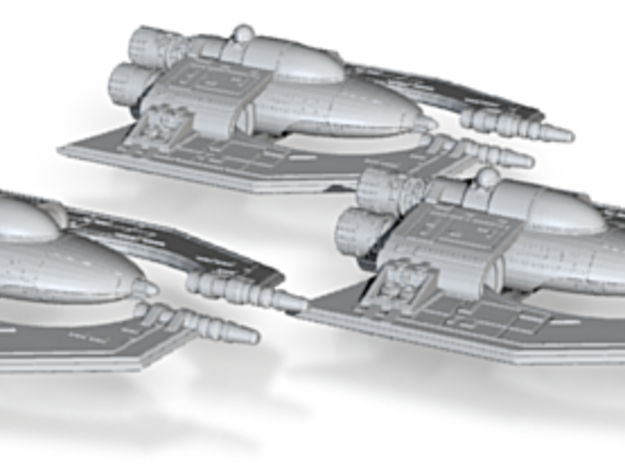 Hapes Consortium Fighter Mk2 Wing 1-270 3d printed