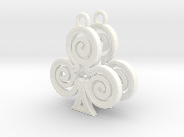 Ace Earrings - Clubs 3d printed